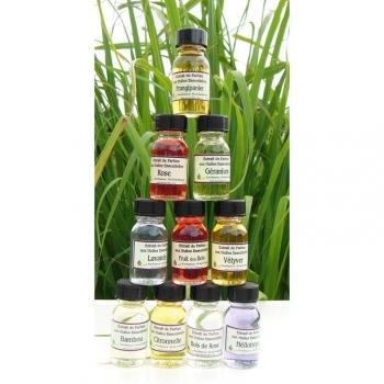 lot extrait parfums aux huiles essentielles fruits tropicaux