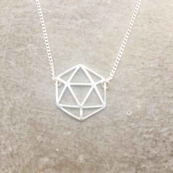 Collier Icosaèdre Argent 925 (5 solides°