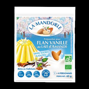 """Flan Vanille au Lait d'Amande """"LA MANDORLE"""""""