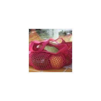 Filet à provisions couleur framboise - anses 35 cm - coton Bio - Ecodis