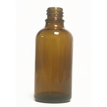 Bouteille en  verre -50 ml- Ambre  pour huile essentielle et huile végétale bouchon +codigoutte .