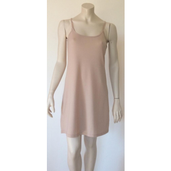 Fond de robe ou nuisette BLUSH (beige rosé) en pure laine mérinos COOLMAN