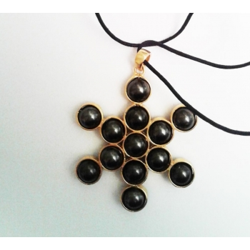 Fruit de vie pendentif fait de 13 boules mobiles 4.5 x 4.5 cm
