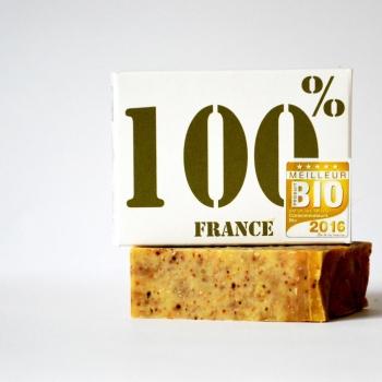 """Savon 100% France élu """"meilleur produit bio 2016"""""""