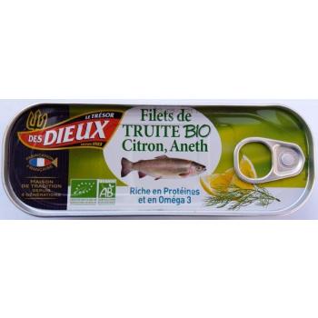 Filets de truite bio citron, aneth, riche en Oméga 3, 115 g