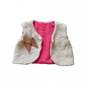 Gilet du berger réversible rose fuchsia