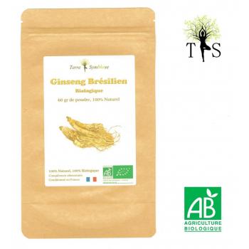 Ginseng Brésilien BIO - 60gr de poudre - Pfaffia Paniculata, Relaxant, Surmenage