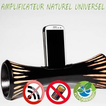 Eco Speaker enceinte naturelle écologique en bois amplificateur sans onde pour téléphone portable dock iphone, samsung androïd ou IOS XL