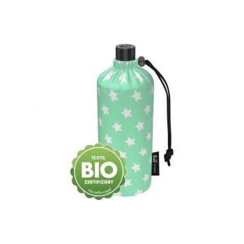 Gourde écologique en verre isotherme 0.6L - Housse en coton Bio - Etoiles