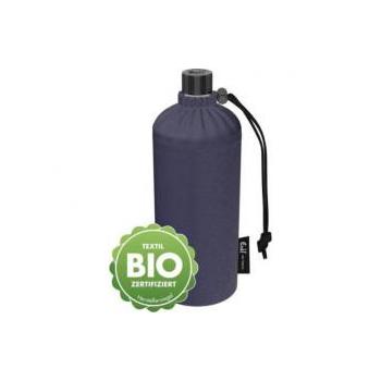 Gourde écologique en verre isotherme 0.6L - Housse en coton Bio - Jean