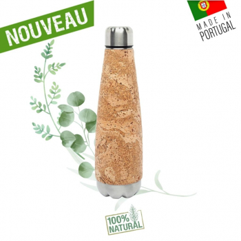 Gourde liège naturel & inox  - Bouteille Inox & liège
