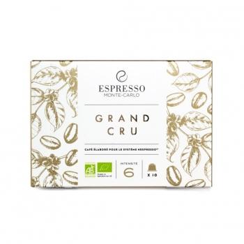 Espresso Monte-Carlo - Grand cru Bio - 10 capsules compatibles Nespresso