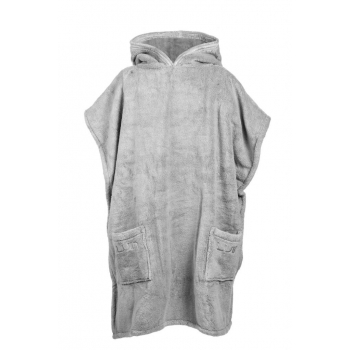 LUIN LIVING - Grand Poncho (M-XL) PEARL GREY