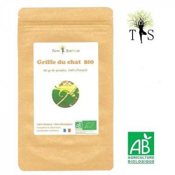 Griffe du Chat BIO - 60gr de poudre Biologique - Anti inflammatoire articulaire