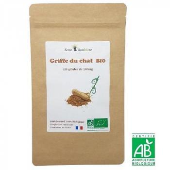 Griffe du Chat BIO - 120 gélules de 500 mg Biologique