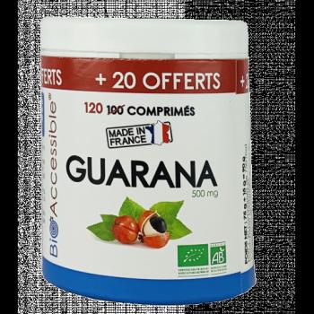 Guarana biologique 500 mg 100 comprimés