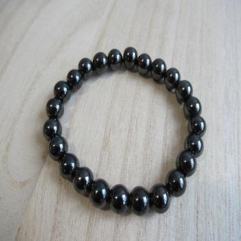 Bracelet en hématite magnétique 8mm