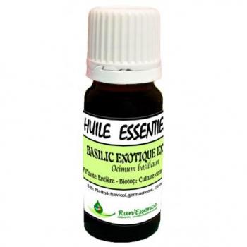 huile essentielle basilic extra bio run'essence 10ml