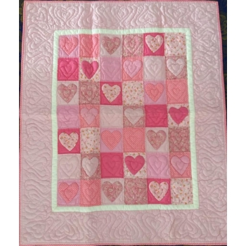 couvre lit mekong quilts rose clair