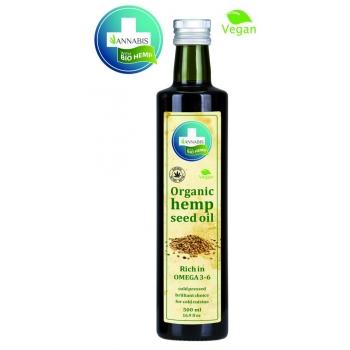 100% Bio Hemp Oil Huile de Graines de Chanvre Organique - 500ml
