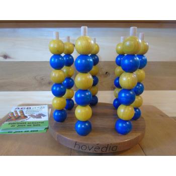 Hovédia support foncé bleu/jaune