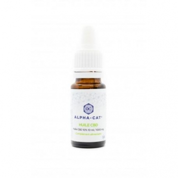Huile de CBD 10% 10ml ALPHA-CAT 1000mg de CBD