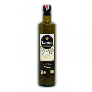 Huile d'olive vierge extra BIO de Crète 750ml - Région de Sitia