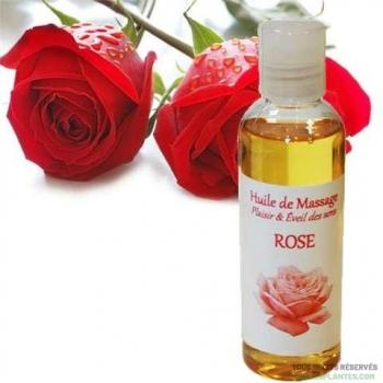 Huile de massage à la rose 100ml