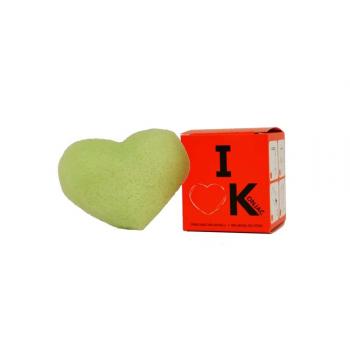 I Love K®, éponge Konjac visage à l'argile verte.