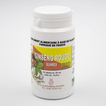 Ginseng Rouge BIO - Tonique sexuel et général - 120 gélules