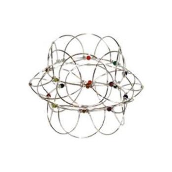 Mandala 'Lotus Puzzle' avec Pierres - Argenté