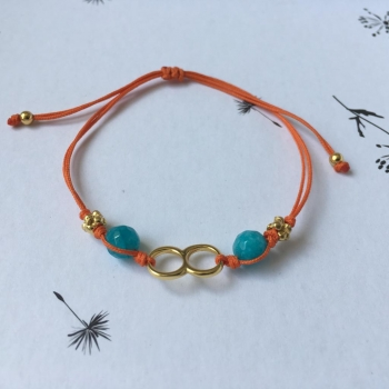 Bracelet fil orange Sinu