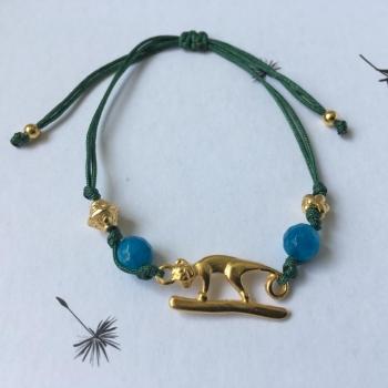 Bracelet fil vert Jaguar