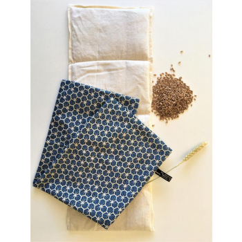 Bouillotte sèche au blé bleu marine