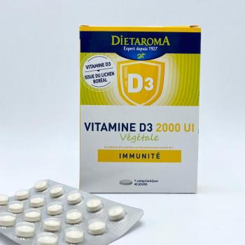 Vitamine D3 Végétale - 2000 UI