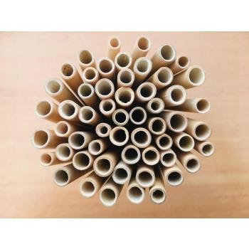 Lot de 10 pailles en bambou L14 cm lavables et réutilisables, zéro déchet, pour les enfants