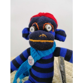peluche singe bleu