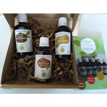 Notre coffret VERGETURES GROSSESSE vous apporte une réponse cosmétique et naturelle grâce sa sélection d'huiles de beauté végatales et BIO !