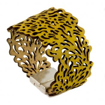 Bracelet fond marin jaune