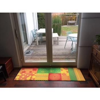 Paillasson / tapis antidérapant et lavable thème fleurs