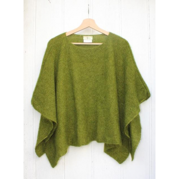 "Poncho ""Ondine"" couleur mousse"