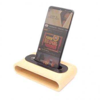 Amplificateur Naturel de son en bois sans Bluetooth sans fil sans électricité pour Téléphone portable