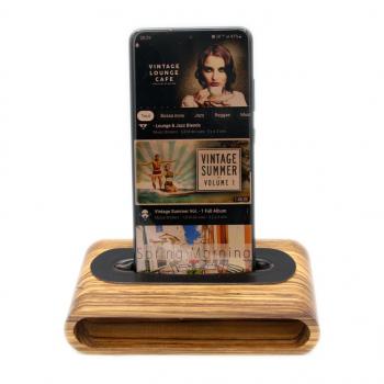 Enceinte Naturelle en bois sans Bluetooth sans fil sans électricité pour Téléphone portable