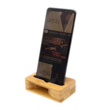 Enceinte Naturelle et support de téléphone en bambou sans Bluetooth sans fil sans batterie
