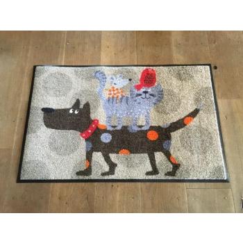 Paillasson / tapis antidérapant et lavable thème un histoire d'animaux