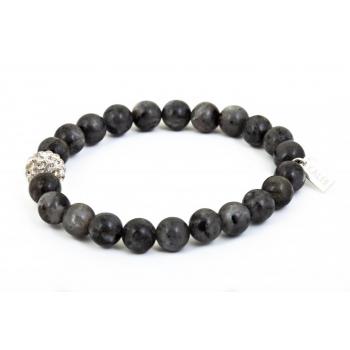 Bracelet labradorite et perle strass