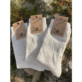 Lot de 3 paires de chaussettes Lin/Coton