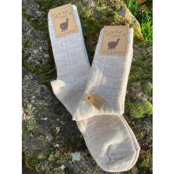 Lot de 2 paires de chaussettes laine/alpaga (naturel)