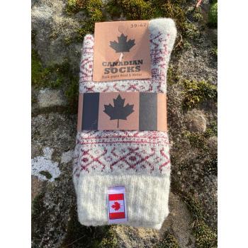 Chaussettes Canada (bordeaux)