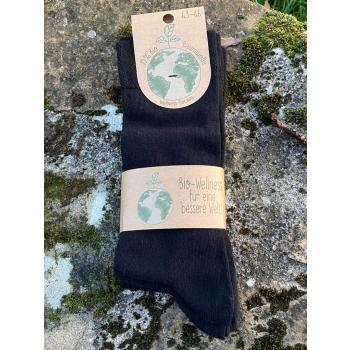 Lot de 3 paires de chaussettes Coton bio (noir)